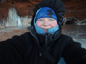 Token Selfie at the Apostle Islands Sea Caves
