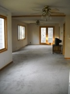 Spacious family room with all new windows.